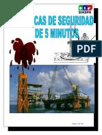 Manual de Platicas de Seguridad de 5 Minutos