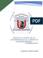 Ensayo El papel de la universidad en el contexto contemporáneo.docx