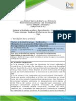 Guía de actividades y rúbrica de evaluación Unidad 1 – Fase  2 – ABP Primera entrega - Realizar el informe con los parámetros de riego