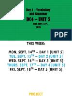 DC4 - Unit 5 - Day 1 (Mon. Sept. 14th 2020)