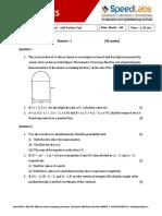 ICSE10 Maths Full Portion Test Paper 01
