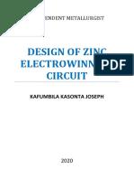 Design of Zinc Electrowinning Circuit