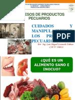 CUIDADOS Y MANIPULACION DE LOS PRODUCTOS PECUARIOS