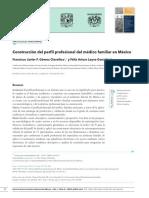 ARTICULO PERFIL PROFESIONAL Y COMPETENCIAS DEL MÉDICO FAMILIAR