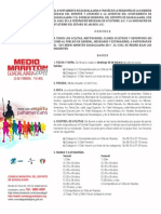 Convocatoria  Medio Maratón Guadalajara 2011