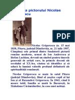 Biografia pictorului Nicolae Grigorescu.docx