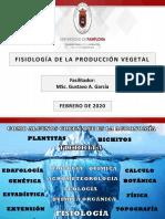 FISIOLOGIA DE LA PRODUCCION VEGETAL
