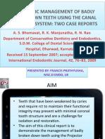 Case Report endodontics