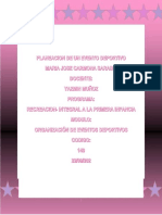 PLANEACION DE EVENTOS DEPORTIVOS