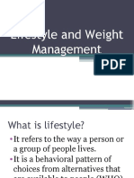 Lifestyle and Weight Management
