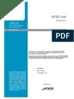 NF EN 1339 - beton Pavage