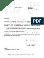 Draft Surat hsbbsPermohonan Pengurusan Izin Pemanfaatan Air Permukaan PT. GMK