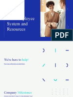 Blue White and Cyan Modern Pattern New Hire Resources Company Presentation