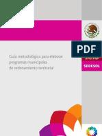 Guía metodológica para elaborar programas municipales de ordenamiento territorial