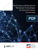 The Practice and Potential of Blockchain Technologies for Extractive Sector Governance