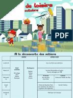 Programme Vacances Toussaint