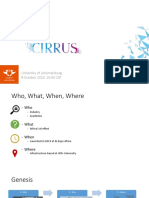 Cirrus lecture at the University of Johannesburg