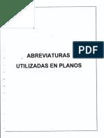 ABREVIATURAS UTILIZADAS EN LOS PLANOS (1)