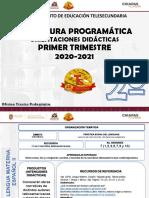 SEGUNDO GRADO TS. 1ER TRIMESTRE ESTRUCTURA PROGRAMÁTICA