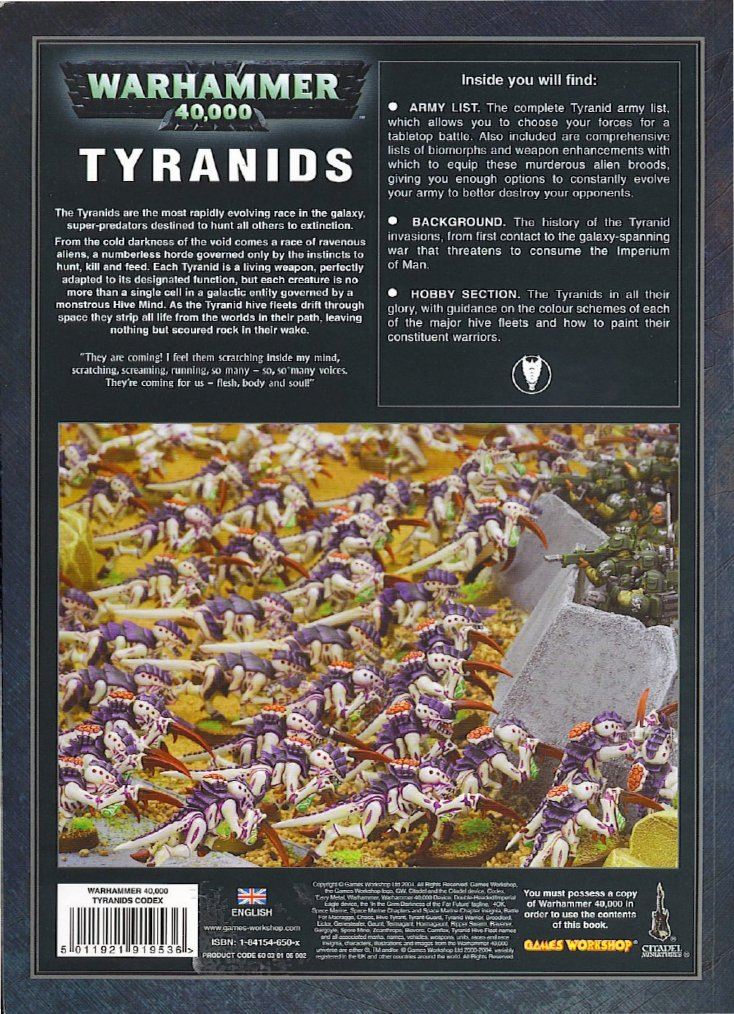 Tyranid codex 4th edition fandeluxe Gallery