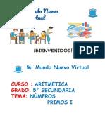 5. CLASE 11 QUINTO NUMEROS PRIMOS I