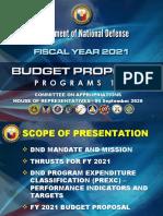 DND FY 2021 Budget Presentation