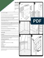 Assembly Instructions Pent Sheds