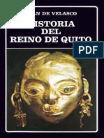 Juan de Velasco Historia Del Reino de Quito