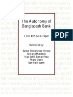 The Autonomy of Bangladesh Bank - ECO 432 Term Paper
