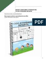 + 300 Atividade Infantil - Educação Infantil e Letramento