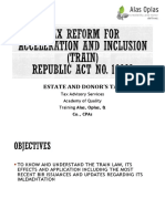 TRAIN LAW estate-and-donors-tax