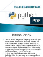 Interfaces de desarrollo para python