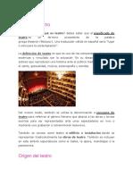 Qué es el teatro, ORIGEN Y EVOLUCION.pdf