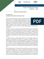 Documento enviado por la federación venezolana a las autoridades del deporte