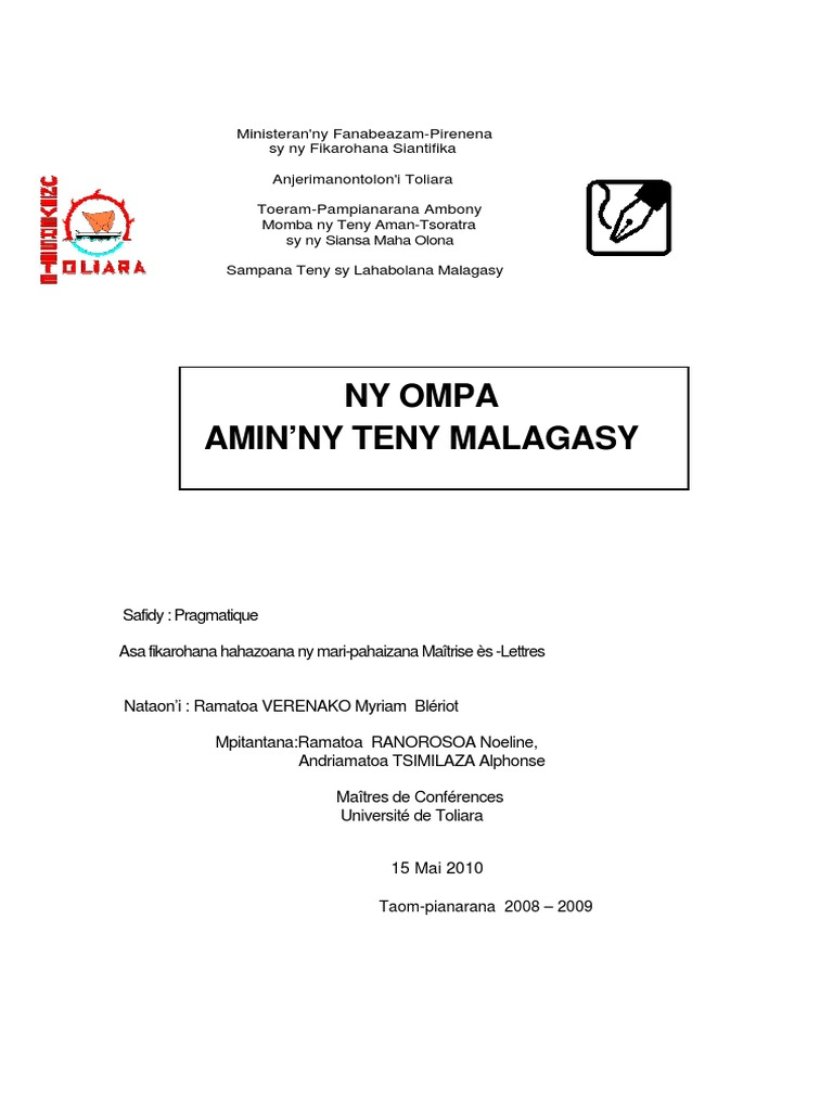 mampiaraka tovovavy Tuliara Madagaskar