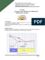 TP N01 Effet de la température sur la dureté et la résilience du matériau fer-carbone