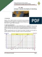 TP N02 Analyse granulométrique et mesure de la limites d'Atterberg