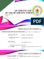 Math 9 Solving Quadratic Equation using Quadratic Formula