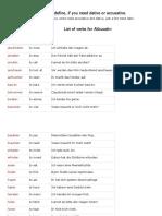 dativ verbs