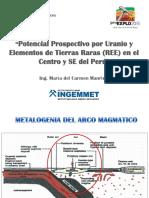 Potencial Prospectivo Por Uranio y Ree en El Centro y Se Del Peru