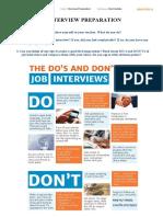 1. Interview preparation