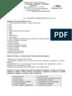 TEST CLASA A IX ECONOMIA INTREPRINDERII