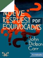 Nueve respuestas equivocadas - John Dickson Carr