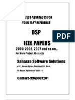 DSP-Project-Abstracts-IEEE-2009-2010-Final-Year-Projects-IEEE-and-Non-IEEE-Projects