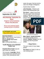 Moraga Rotary Newsletter 9 22 2020