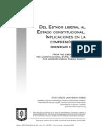 Del estado liberal al estado ConstituCional. impliCaCiones en la Compresión de la dignidad humana.pdf