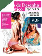Guia Curso de Desenho Artístico - Lápis de Cor (Anatomia Feminina)