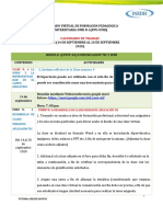 CALENDARIO DE TRABAJO SEMANA N. 3 (DEL 14 AL 20 DE SEPTIEMBRE)-2