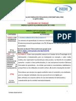 CALENDARIO DE TRABAJO SEMANA 2 (DEL 07 DE SEPTIEMBRE AL 13 DE SEPTIEMBRE 2020)