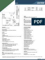 Ficha Técnica Placa Mãe - DH310MXV A